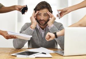 hombre gestión del estrés